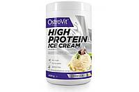 Протеин OstroVit High Protein Ice Cream - Vanilla, Chocolate  (400 g)