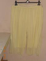 Шифонові штани кюлоти лимонного кольору 62 64 66 Bonprix, фото 1