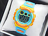 Водонепроникні дитячі спортивні наручний годинник Skmei 1451 блакитні з помаранчевим
