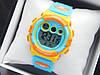 Водонепроницаемые детские спортивные наручные часы Skmei 1451 голубые с оранжевым
