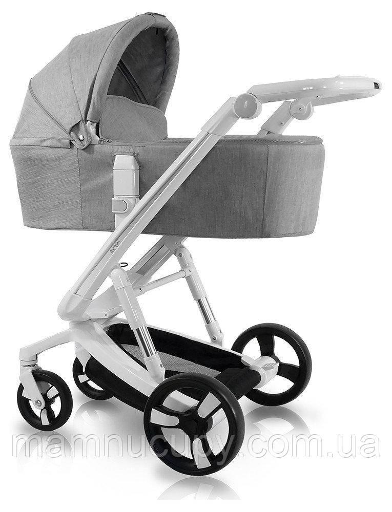 Детская универсальная коляска 2 в 1 ibebe istop IS1 grey/white