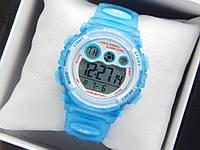 Водонепроникні дитячі спортивні наручний годинник Skmei блакитного кольору, фото 1