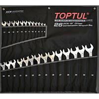 Набор комбинированных ключей 26ед 6-32мм TOPTUL GPAW2601