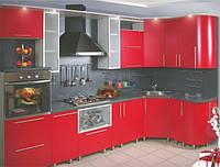 Кухни с крашенными МДФ фасадами под заказ