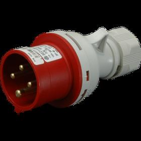 Вилка кабельная IVN 1643, IP44 (16A, 400V, 3P+PE) SEZ