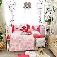 """Детское постельное белье в кроватку """"Персонажи"""", розовое, фото 1"""
