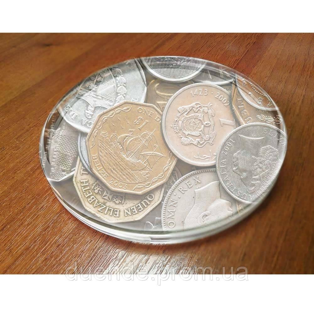 Монетница Top Glass из литого стекла, цвет  - su 70008690