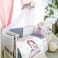 Комплект детского постельного белья Акварели 4