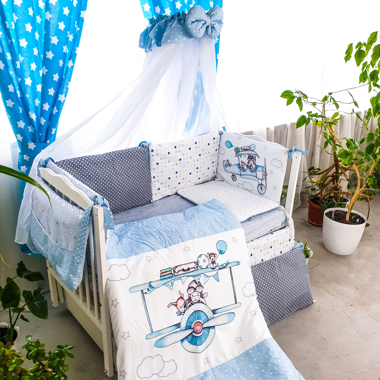 Комплект детского постельного белья Акварели 5