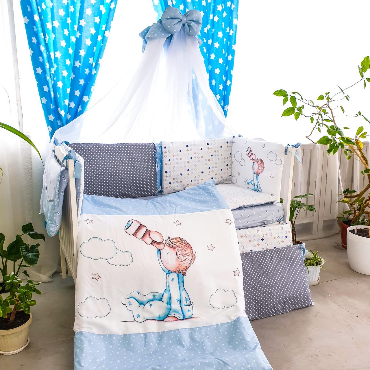 Комплект детского постельного белья Акварели 6