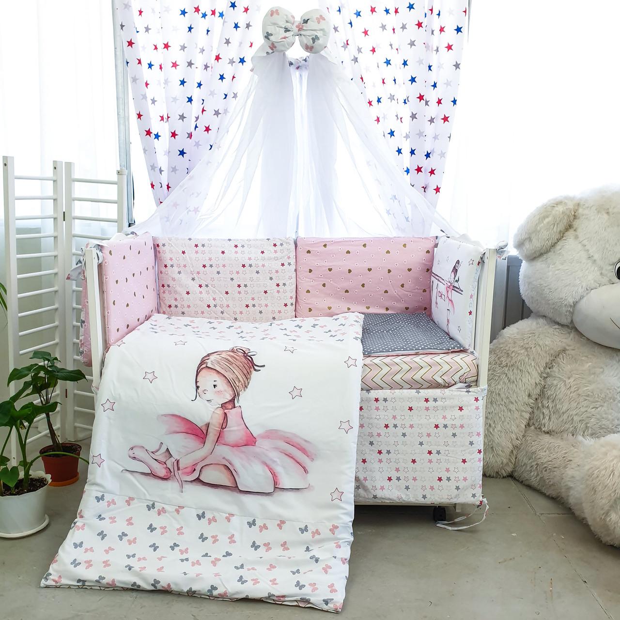 Комплект детского постельного белья Акварели 7