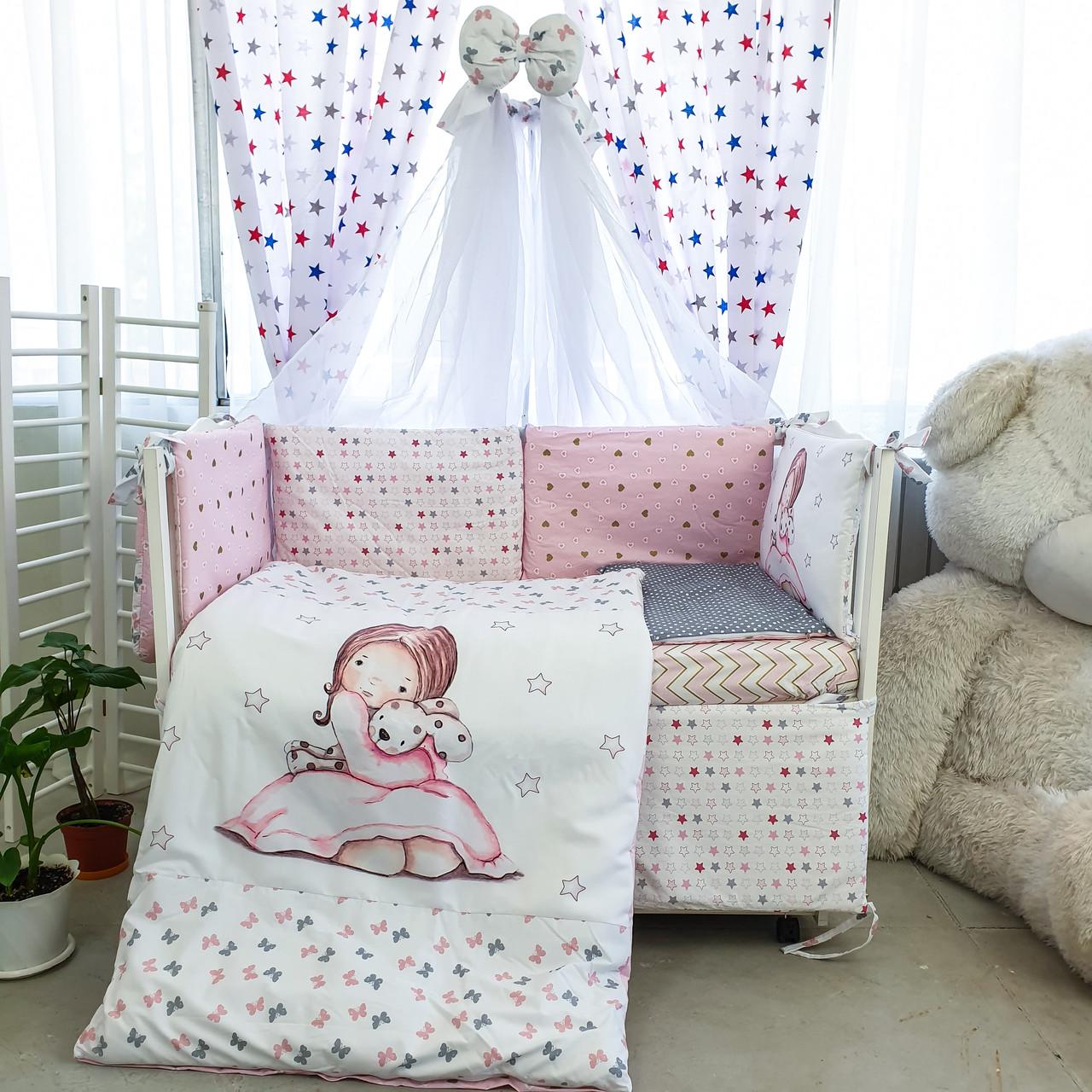 Комплект детского постельного белья Акварели 8