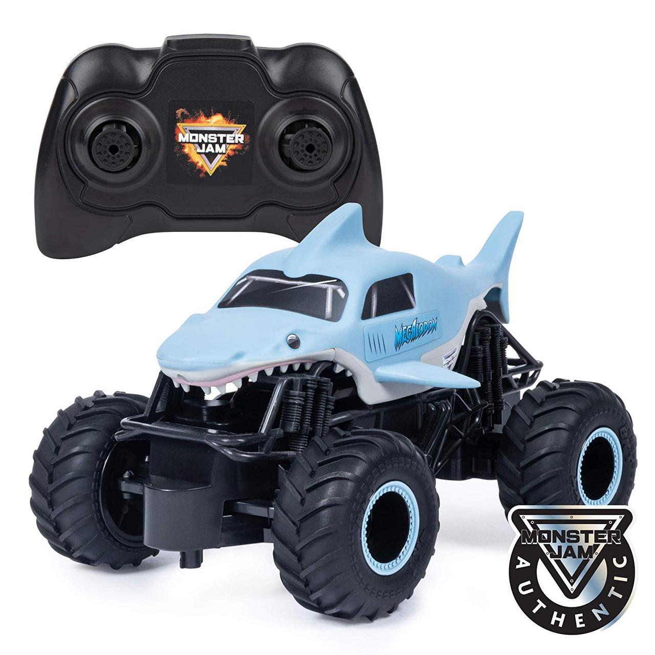 Машина на радиоуправлении джип Монстер трак 1:24 Monster Jam Official Megalodon Remote Control Monster Truck
