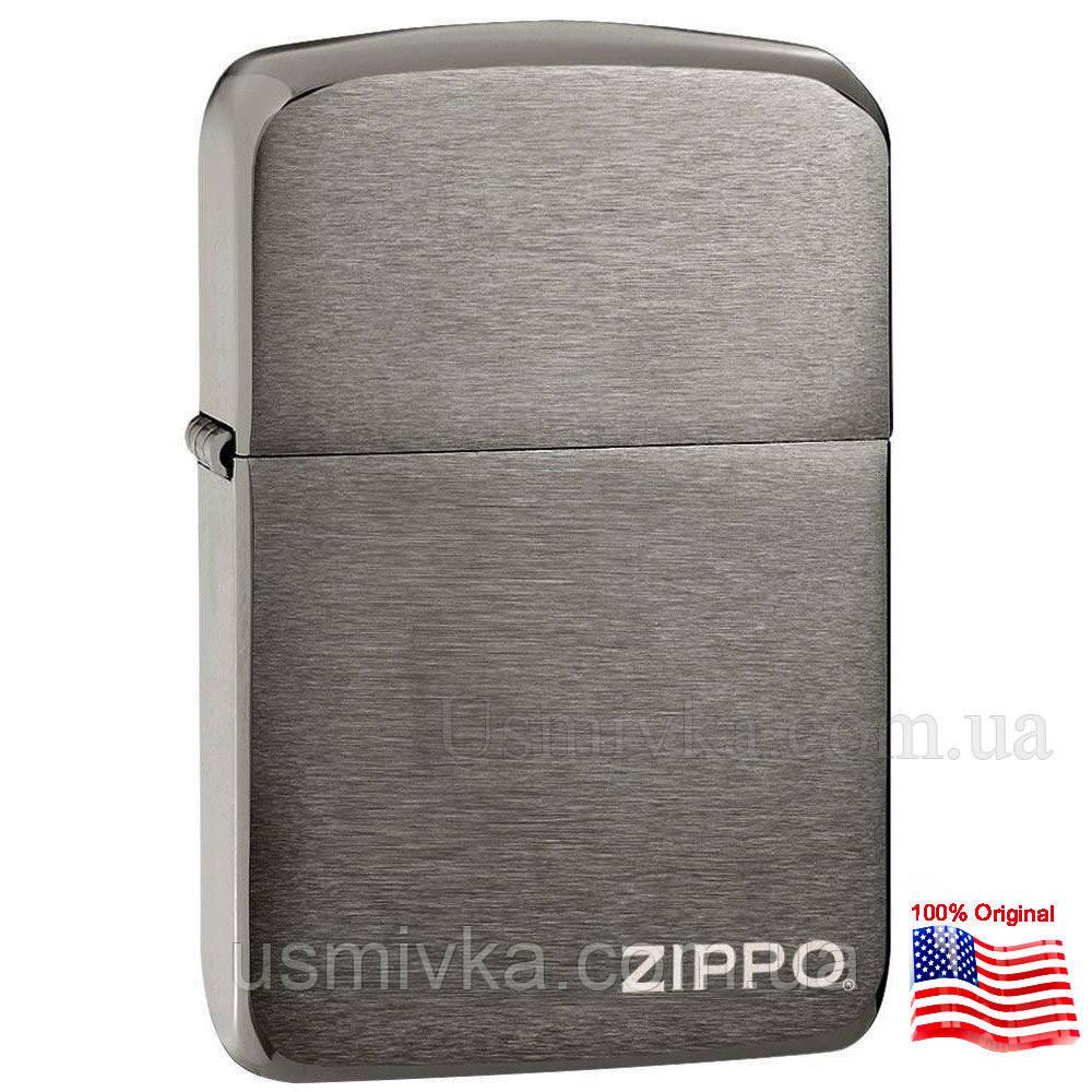 Зажигалка бензиновая Zippo 24485 Black Ice (Черный лед).