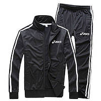 Мужской тренеровочный черный костюм Asics (Асикс)
