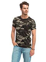 Мужская футболка Lc Waikiki / Лс Вайкики камуфляж с надписью California West Coast, фото 1