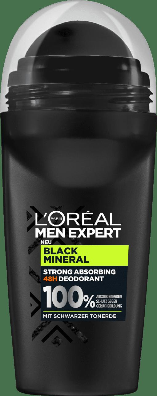 Роликовый дезодорант - антиперспирант L'ORÉAL Men Black Mineral, 50 мл.