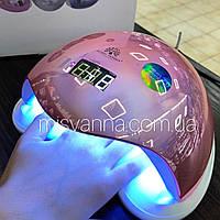 УФ лампа UV+LED SUN 5 Plus Smart 2.0 на 48 Вт для сушки геля и гель лака, розовая призма