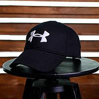 452f238521f Бейсболка Under Armour - Original, черная с белым, материал - хлопок,  логотип -