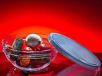 """Салатник стеклянный с крышкой 230 мм """"Chefs 53583"""" 1 шт."""