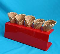 Подставка под вафельный рожок с логотипом, фото 1