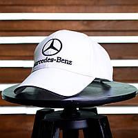 Бейсболка Mercedes-Benz - Original, белая с черным, материал - хлопок, логотип - вышивка, код EL-025