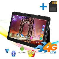"""Игровой Планшет B108 4G 10.1"""" IPS 2 GB RAM 16 GB ROM GPS + Чехол-книжка + карта памяти 32GB"""