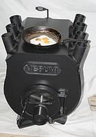 Печь калориферная «VESUVI» с варочной поверхностью  со стеклом«00