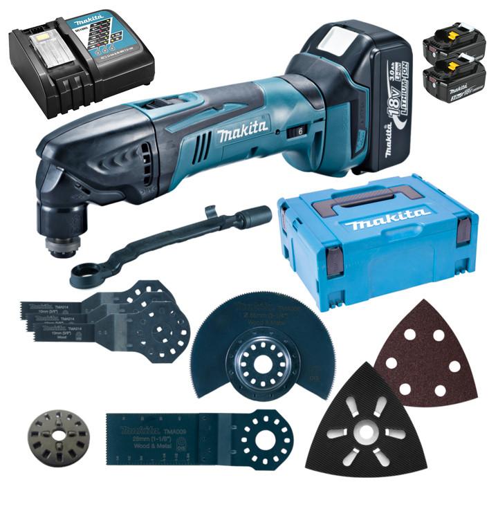 Аккумуляторный универсальный инструмент Makita DTM50RFJX4 + 2 АКБ + ЗУ+ кейс