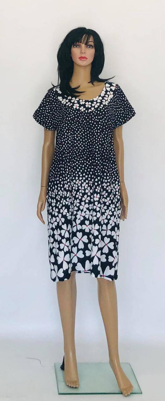 Платье летние с рукавом джинс с розой