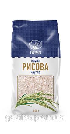 "Рис круглый крупа 0.8кг ""Веста"" (10)"