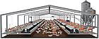 Щелевой пластиковый пол для птицы 1200х600 мм, щелевой пол для птичников, фото 6