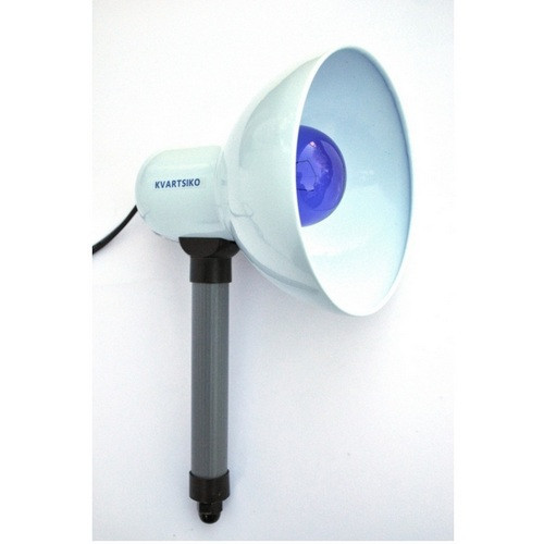 Ручной инфракрасный облучатель КВАРЦ-ИК-СЛ-Р (75 Вт),синяя лампа