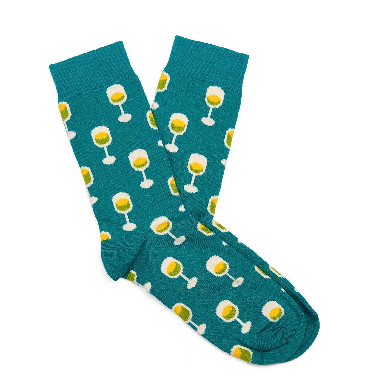Носки женские с принтом Dodo Socks white 150ml 36-38 Бирюзовый