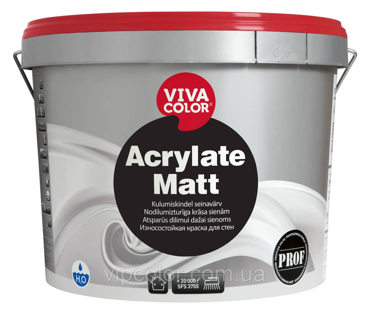 Vivaсolor Acrylate Matt Матовая краска для стен и потолков А 9л