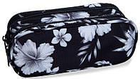 Пенал с цветами CoolPack CLEVER B65045, черный