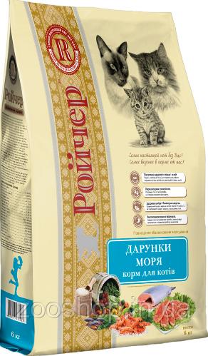 Ройчер Дары моря сухой корм для котов 6 кг
