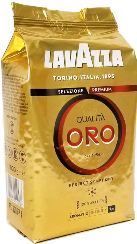 Кофе в зернах Lavazza Qualita Oro 1 кг.
