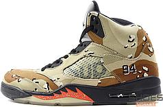 Чоловічі кросівки Nike Air Jordan 5 Supreme Camo 824371-201, Найк Аїр Джордан 5