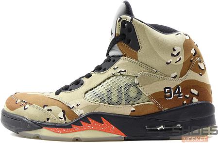 Мужские кроссовки Nike Air Jordan 5 Supreme Camo 824371-201, Найк Аир Джордан 5, фото 2
