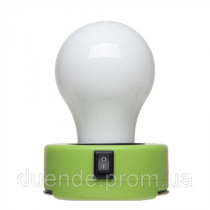 Лампочка пластиковая с встроенным магнитом и с металлическим карабином, цвет Лайм - su 95776119