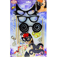 Фотобутофория набор очки - усы, 5 предметов.