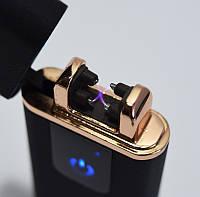 🔝  Электродуговая плазменная аккумуляторная импульсная зажигалка Classic Fashionable | Чёрная Матовая | 🎁%🚚