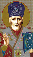 Схема для вышивки бисером А2+ Святой Николай Чудотворец КМИ 1003
