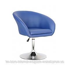 Кресло Мурат, синий кожзам