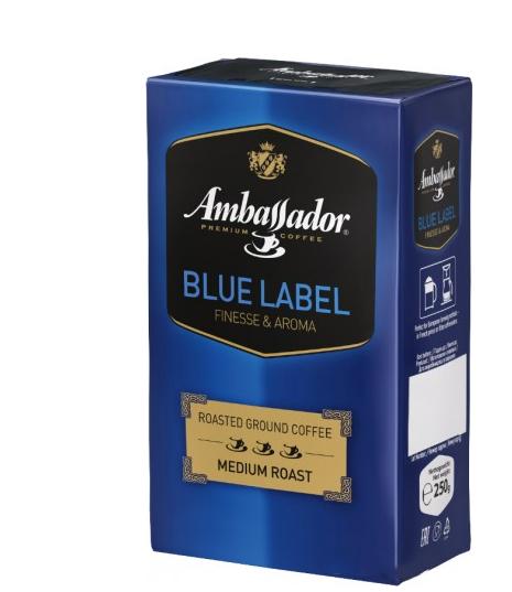 Кофе молотый Ambassador Blue Label 230 г