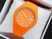 Кварцевые водонепроницаемые наручные часы Skmei Watch на силиконовом ремешке оранжевые, фото 1