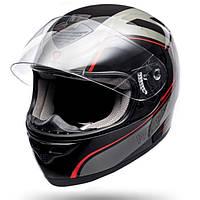 Мотошлем интеграл ISPIDO PULSE color black/red/gray L