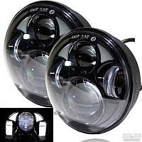 Cветодиодная фара 75 ватт для ВАЗ 2106 JP 40W 5.75 дюймов круглая LED Headlight для Ваз 2106 и др 12-24 Вольта
