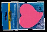 Блок бумаги для заметок Buromax Сердце Neon ассорти, 50 шт, фото 2